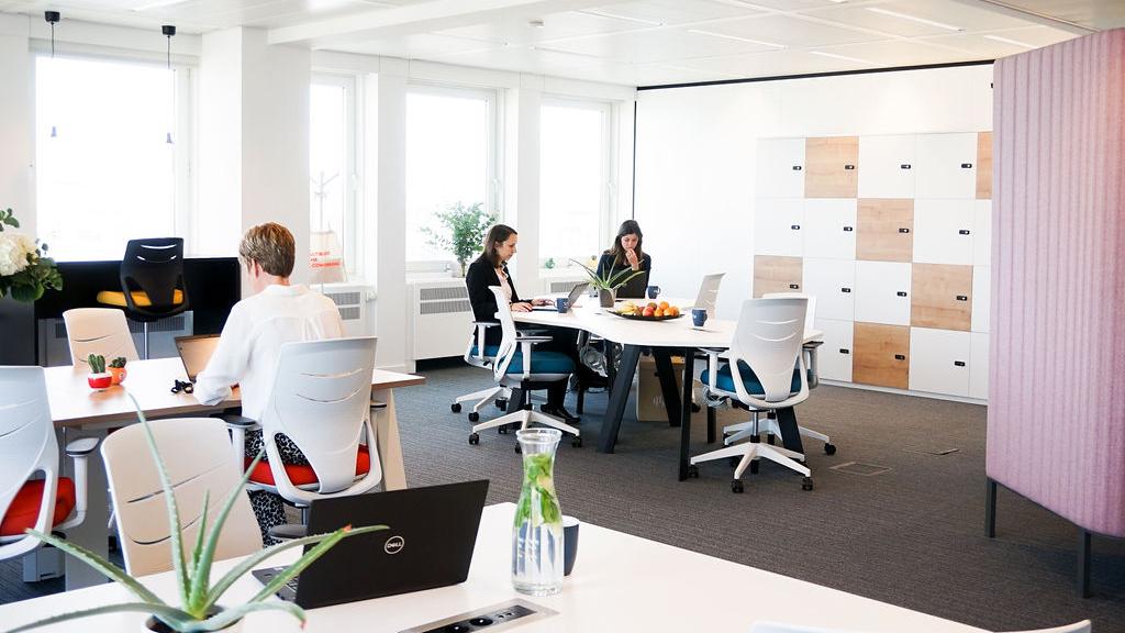 espace de coworking confortable et design